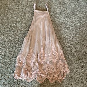 High Neck Lace Tank Charlotte Russe